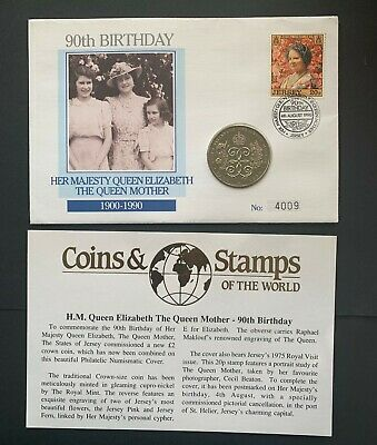 Turks & Caicos, Queen Mother's 90th Birthday 1 Crown Coin Cover