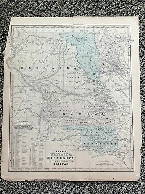 1860 Kansas Nebraska Minnesota Indian Territory Dacotah Proposed Jefferson (CO)