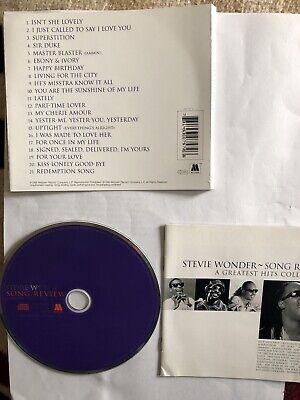 Stevie Wonder - Song Review (Greatest Hits Collection, 1998)ONLY DISC & LEAFLETS
