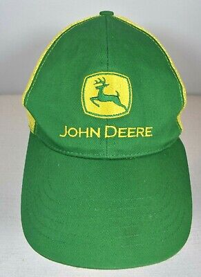 John Deere Trucker's Hat Vintage Green Brim & Front with Icon Yellow Back Mesh