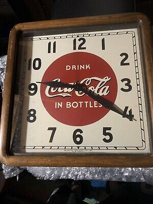 Selectoclock Drink Coca~Cola Advertising Clock 16in Selected Devices Co New York