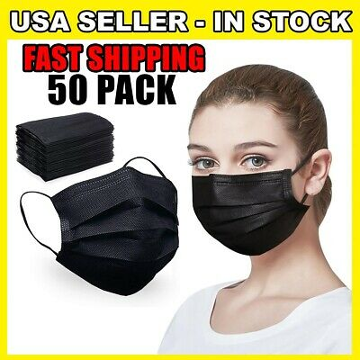 50 PC Face Mask Mouth & Nose Protector Masks Cover USA SELLER FAST SHIPPING