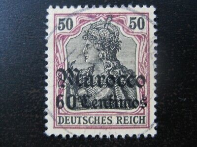 MOROCCO GERMAN OFFICES COLONY Mi. #28 used stamp! CV $36.00