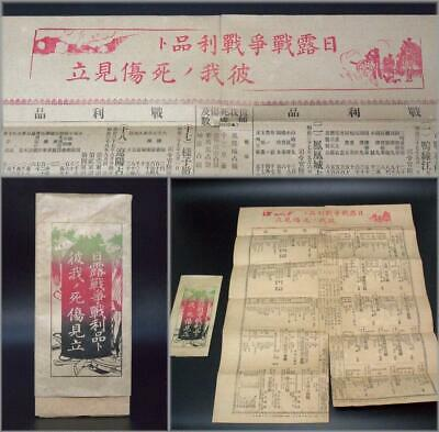 "ASO74 Japanese Antique paper ""Russo-Japanese War Loot Inven"" 1905 (meiji 35)"