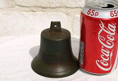 ANTIQUE SERVANTS BUTLERS BRONZE or BRASS BELL  - AS IS - NO CLAPPER ETC 1of7