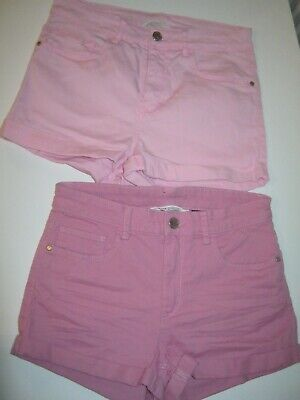 2 Pairs Girls Shorts H&M Age 13-14 Years Eur 164 Baby Pink New With Tags