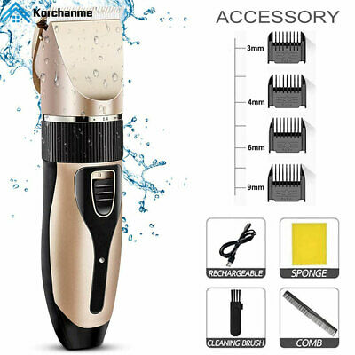 Mens Hair Clippers Cordless Professional Electric Hair Beard Trimmer Shaver Set