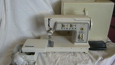 "Vintage Singer 708 Touch & Sew Sewing Machine ""Mint"" with Plenty of Accessories"