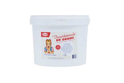 "Bicarbonate 5Kg - Alimentaire E500 ""Extra fin"" + mini guide OFFERT"