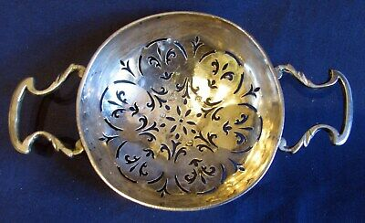 Early Sterling Silver Punch Strainer