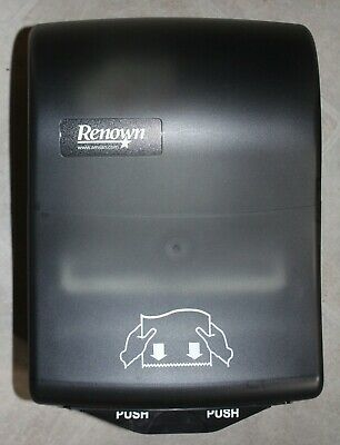 Paper Towel Roll Dispenser Renown 05157 Y-Notch Mechanical Black Translucent NEW