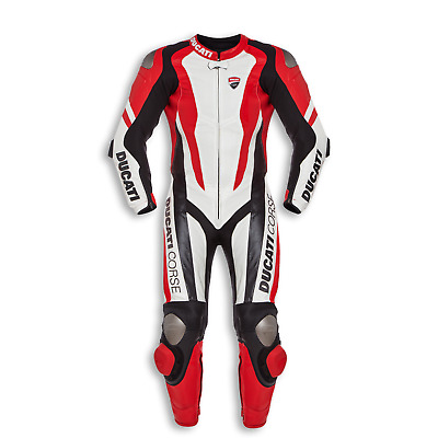 """DUCATI"" Corse Motorcycle Red Motorbike Motogp Racing Leather SUIT Armour"