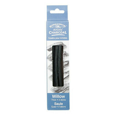 Winsor & Newton / Colart 7005171 Artists Willow Charcoal Thick 3 Sticks