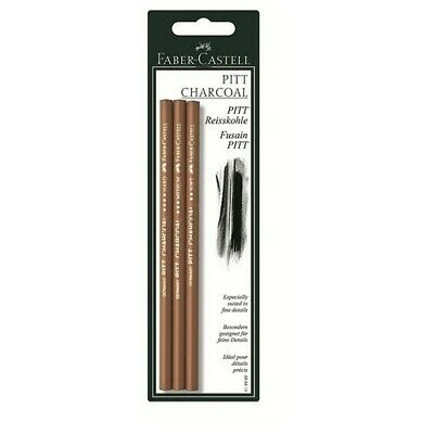 Faber-Castell Usa 119999 Artists Compressed Charcoal Assorted Pencils 3 Pack ...