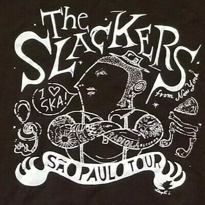 The SLACKERS vintage SAO PAULO / BRAZILIAN TOUR 2012 white T shirt men's L