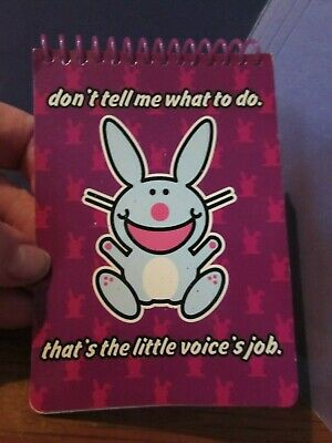 """NEW/unused Jim Benton HAPPY BUNNY notepad notebook """"Don't Tell Me What To Do"""""""