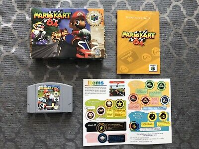 Mario Kart 64 Tested Game, Box & Instruction Booklet