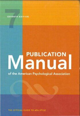 Publication Manual of the American Psychological Association 7th Ed 2020 P-D-F