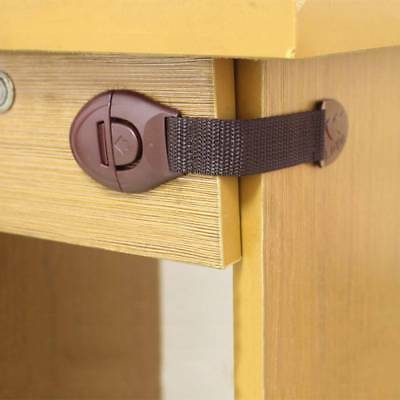 10Pcs Child Baby Pet Safety Safe Lock Fridge Toilet Drawer Cabinet Cupboard Door