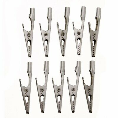 10x  Screw Probe Fixing Test Alligator Clips Crocodile Clamps Stainless Steel