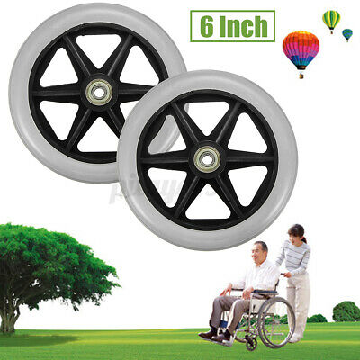 "AU 6"" Front Rear Wheel Replacement Parts for Cardinal Rollator Walker   ]"