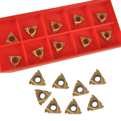 10x 11IR A60 Golden Carbide Inserts To Internal Threading Turning Tools