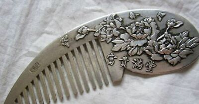 Chinese Ancient Comb Hand Pendant Tibet Carved  Collection Culture Jade 1 Old S.