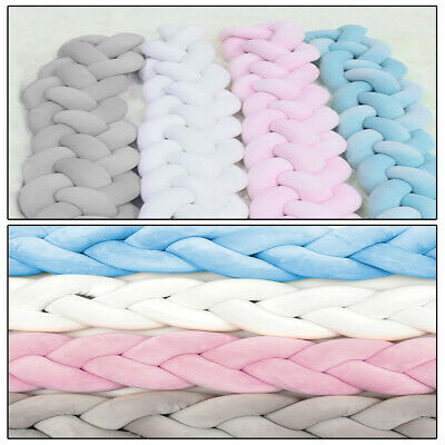 Baby Bedding Cot Bumper Infant Crib Woven Thick Pad Protection Safety Bumpers UK