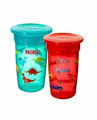 2x Nuby Baby Bottle Wonder Maxi 360° Easy No Spill Cups / 2 Pack Deal / BPA FREE