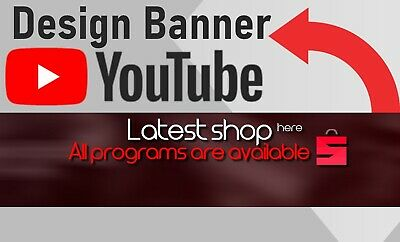 Design YouTube Banner Art Banner Logo - High quality