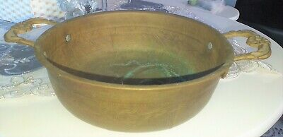Brass Harness Home Art Large Vintage Antique Dish with No or Decorative Home Bow