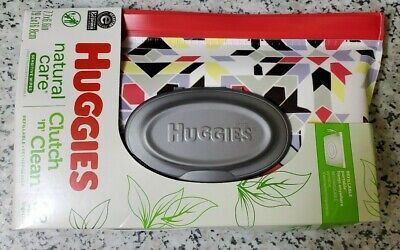 Huggies Natural Care Clutch & Clean Refillable Clutch with 32 Count Wipes In New