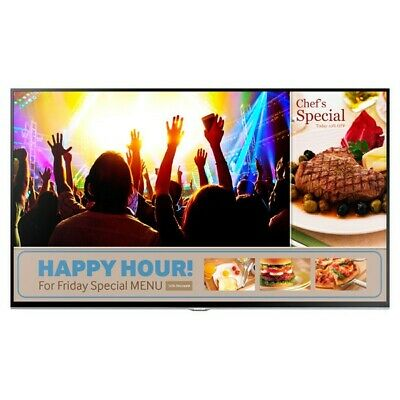"48"" Samsung Smart Signage TV Restaurant/Bar Programmable Advertising Display NEW"