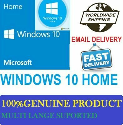 Windows 10 Home Key 32&64 Bit Genuine Genuine Product Key License+Download Links