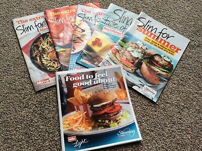 Slimming World - 6 Newspaper Suppliment Recipe Books - Summer Life Eating Plans