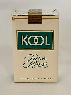 "Vintage Kool Filter Kings Cigarettes Soft Pack Package Sign Display Only ""empty"""