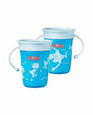 2x Nuby Baby Bottle Wonder Mini 360° Easy No Spill Cups / 2 Pack Deal / BPA FREE