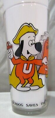 Vintage  Leonardo Ttv Arby's Collector Series Underdog Saves The Bell Glass
