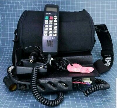 Vintage Car Cellular Phone In Bag Novatel 8305a UNTESTED 1980s 80s Cell Carrying