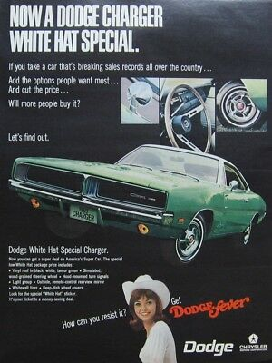 1969 Dodge Charger Ad (Green) Print Ad