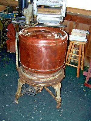 "Vintage ""Roto-Verso"" Copper Tubbed Early Century Washing Machine"
