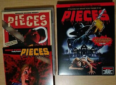 PIECES 3 DISC BLU RAY GRINDHOUSE BOX SET & CD SOUNDTRACK & BOOKLET (OOP Horror)