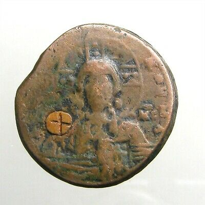 BASIL II / ANONYMOUS BRONZE AE31 FOLLIS_____Bust of Christ_____BYZANTINE EMPIRE