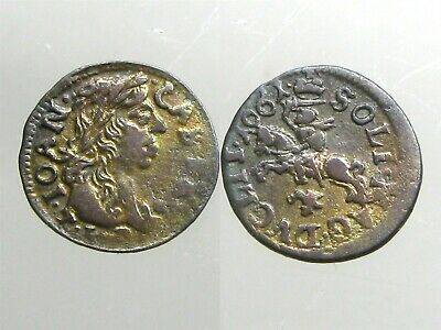 JOHANN CASIMIR COPPER SOLIDUS____Goth & Vandal King____POLAND____Dated: 1661