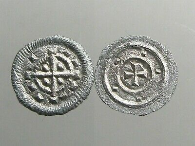 SILVER DENAR OF MEDIEVAL HUNGARY____Bela II the Blind____BLINDED WITH HIS FATHER