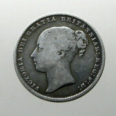 QUEEN VICTORIA SILVER SHILLING____Great Britain____MINTED 1865____63 Year Reign