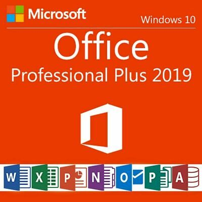 🔥Microsoft Office 2019 Professional Plus 32/64 Bit License Key Instant Delivery