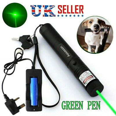 1mW Green Laser Pointer Pen Astronomy Visible Beam Lazer+18650 Battery+Charger