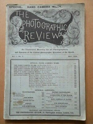 The PHOTOGRAPHIC REVIEW May 1896 - Rare Photography Magazine - Hand Camera Work