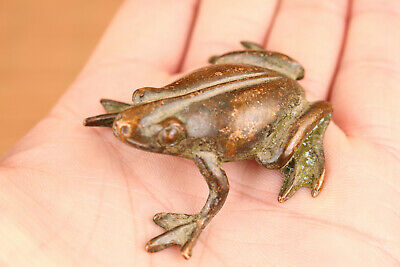 rare China old bronze hand cast frog statue figure collectable ornament